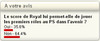 Sondage en ligne RTL indique que Royal n'est plus en mesure de décider dans l'avenir